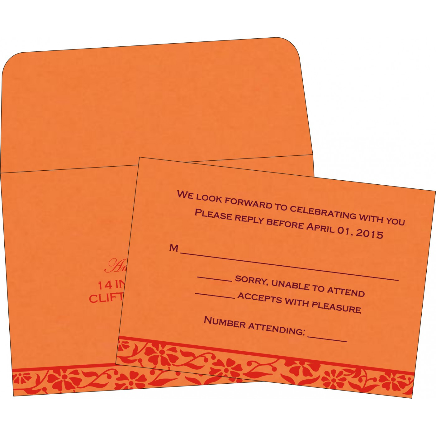 RSVP Cards : RSVP-8222C - 123WeddingCards