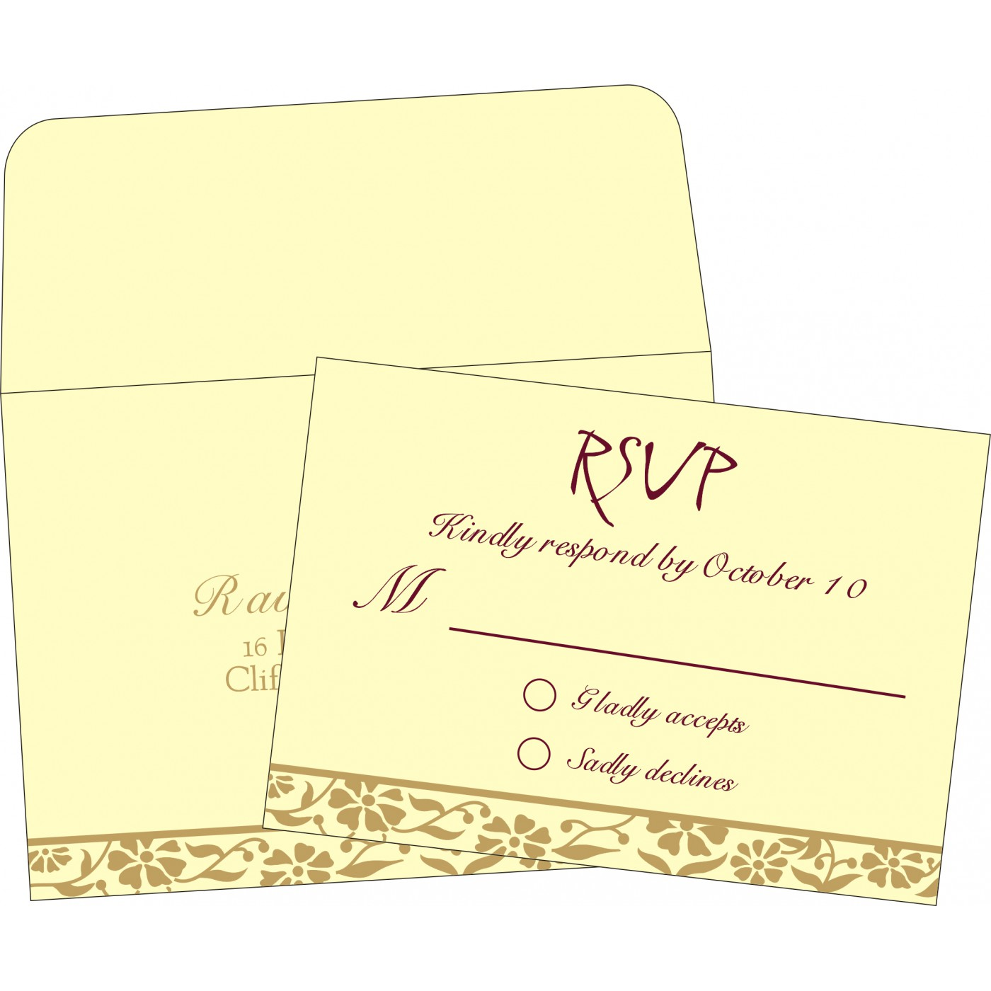 RSVP Cards : RSVP-8222F - 123WeddingCards