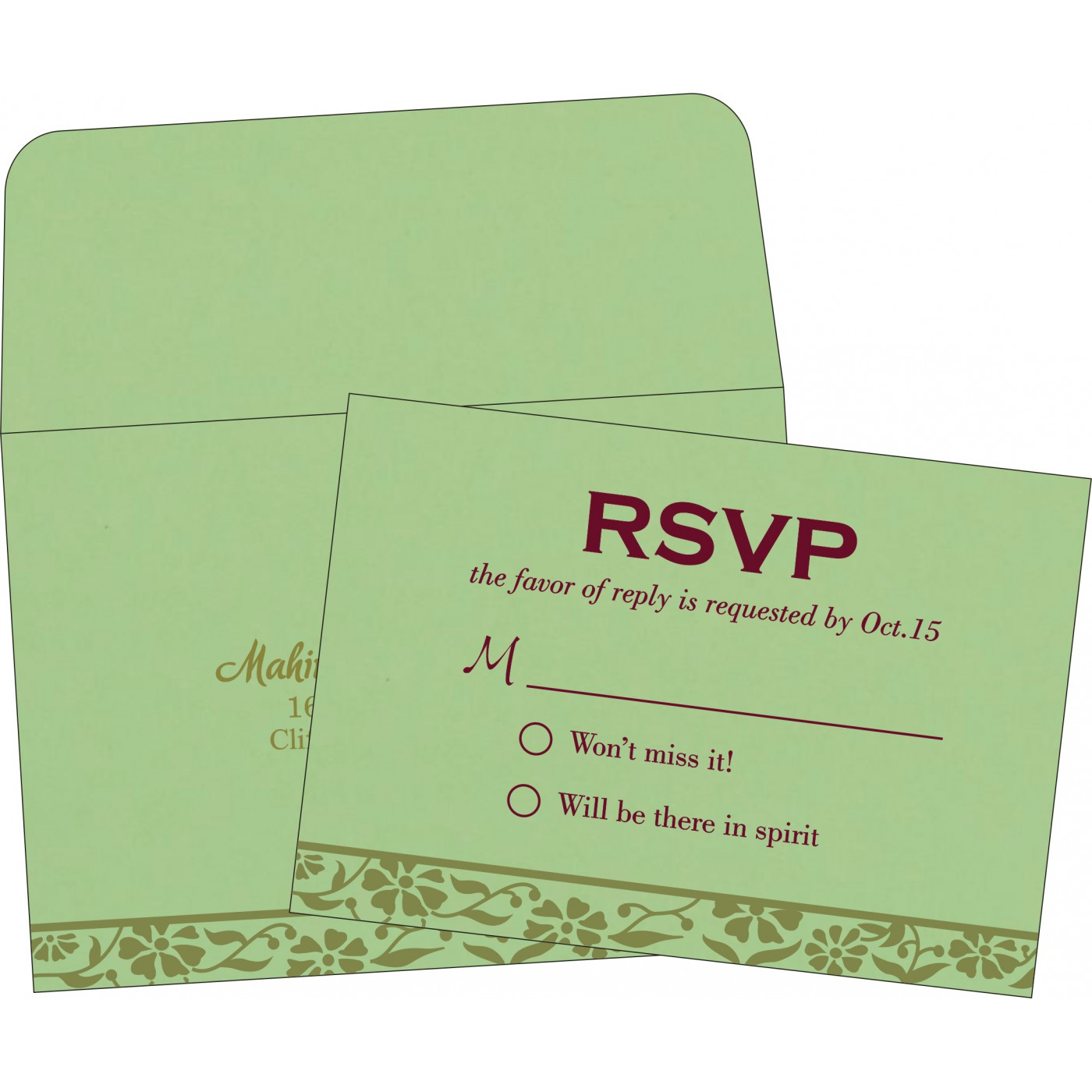 RSVP Cards : RSVP-8222G - 123WeddingCards