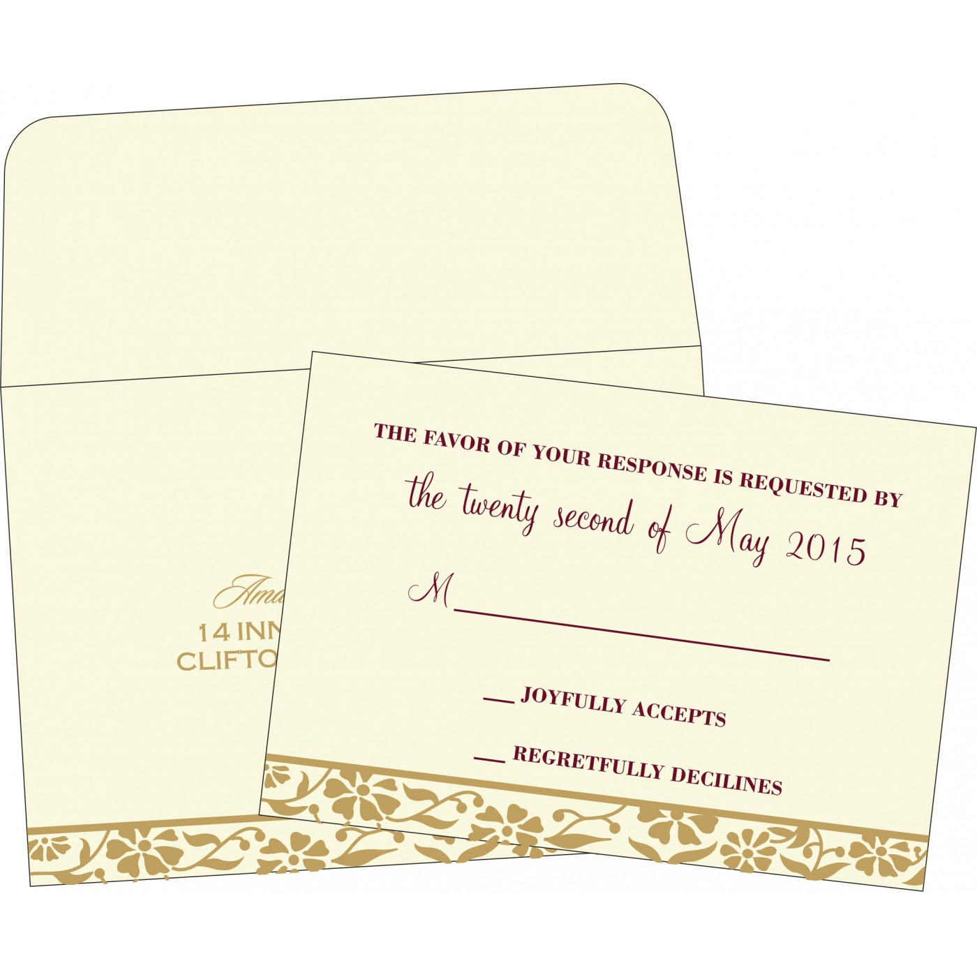 RSVP Cards : RSVP-8222I - 123WeddingCards
