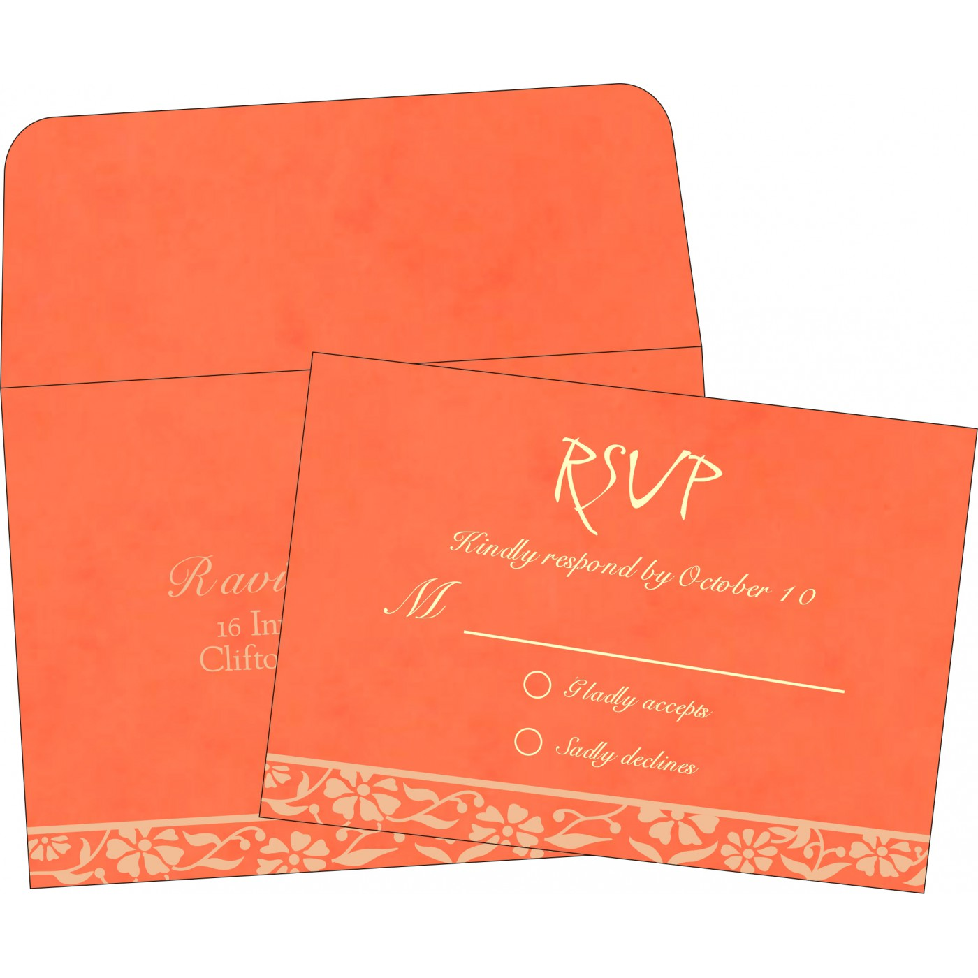 RSVP Cards : RSVP-8222L - 123WeddingCards