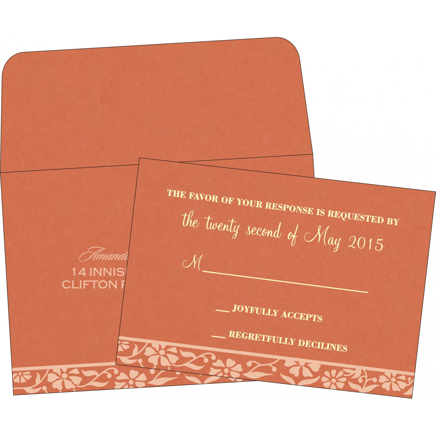 RSVP Cards : RSVP-8222P - 123WeddingCards