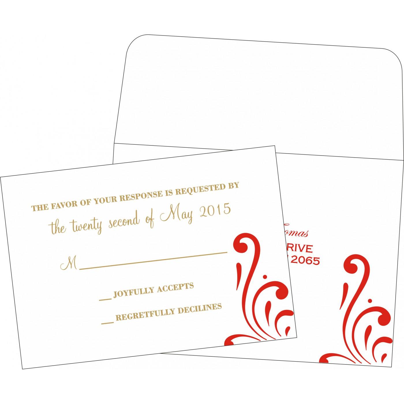 RSVP Cards : RSVP-8223C - 123WeddingCards