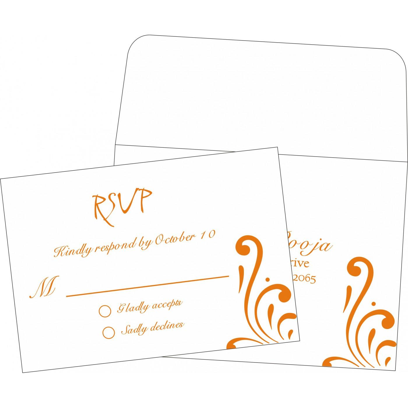 RSVP Cards : RSVP-8223K - 123WeddingCards