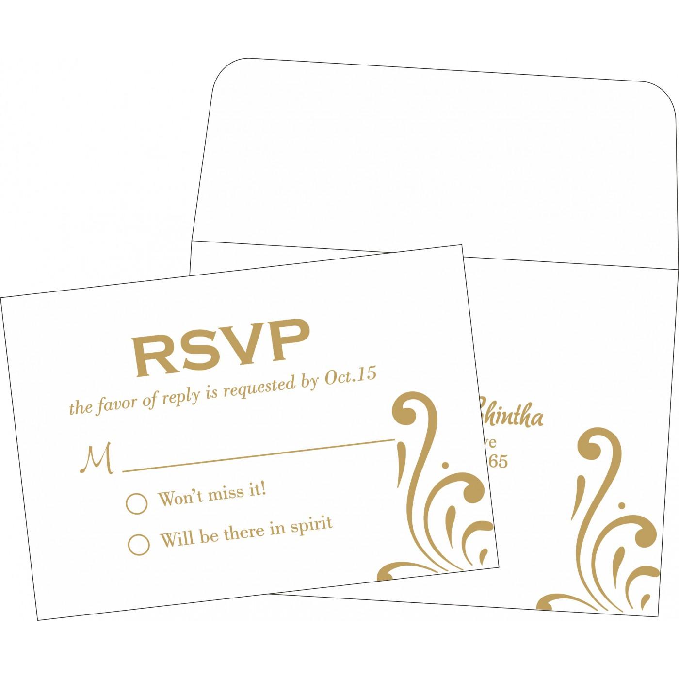 RSVP Cards : RSVP-8223L - 123WeddingCards