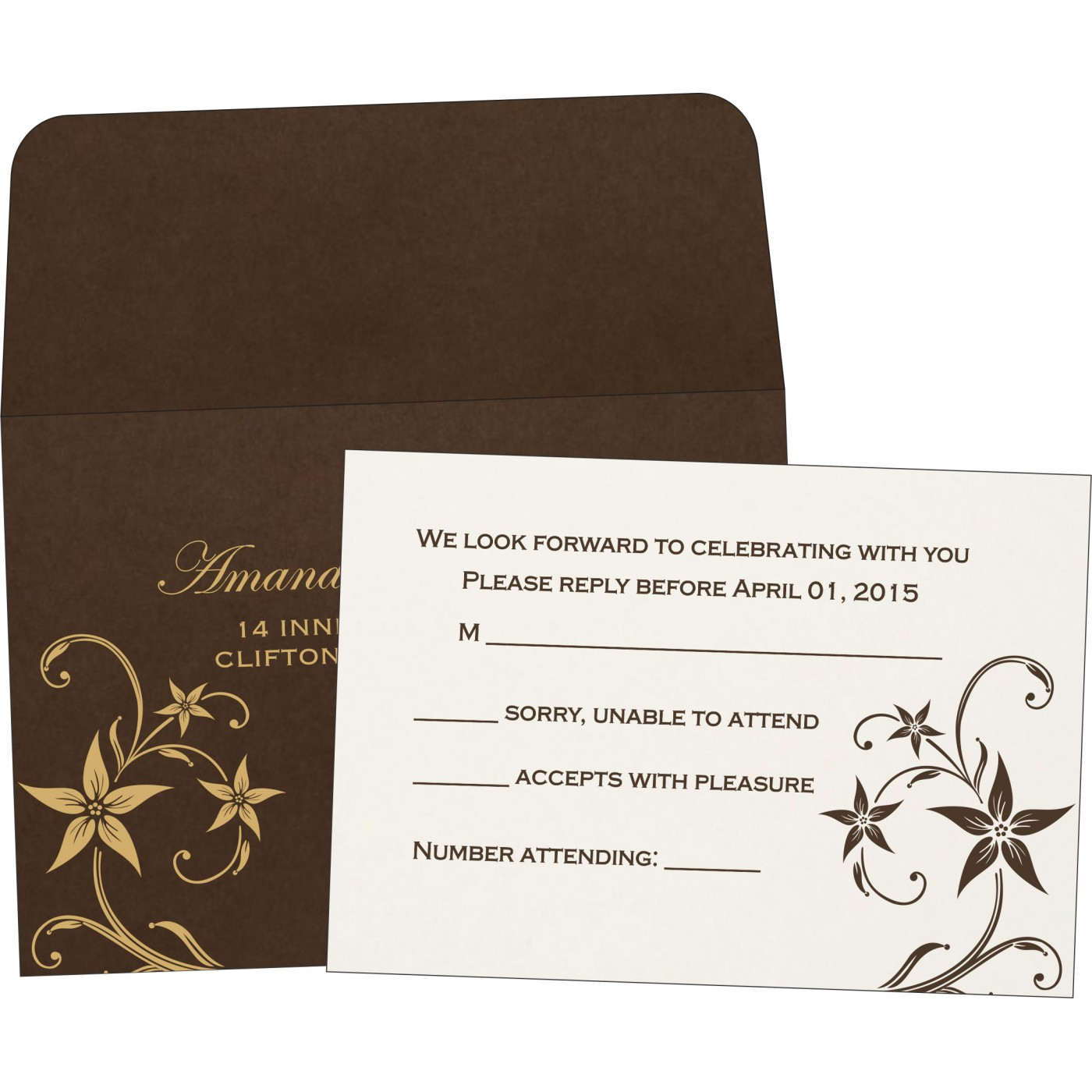 RSVP Cards : RSVP-8225C - 123WeddingCards