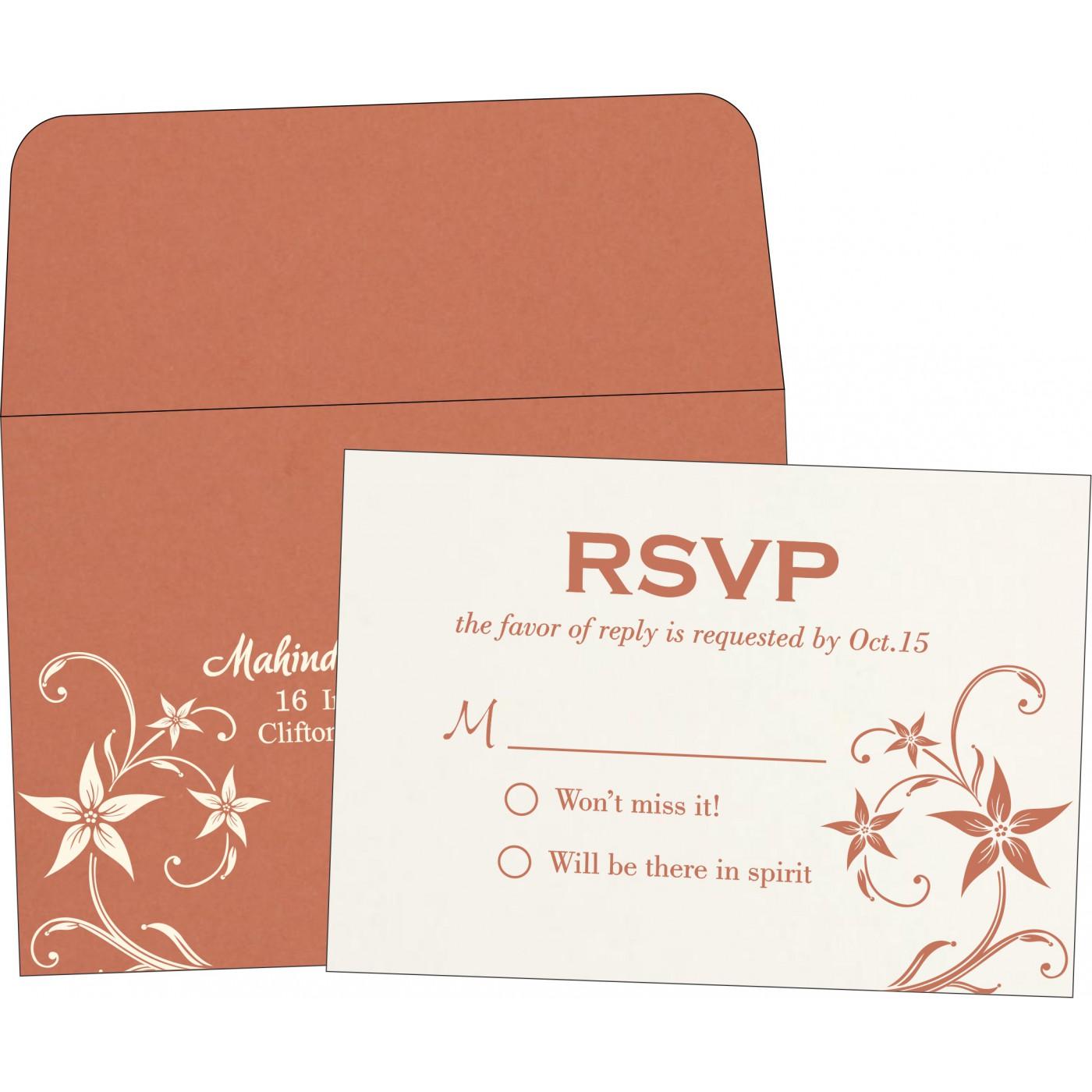 RSVP Cards : RSVP-8225G - 123WeddingCards