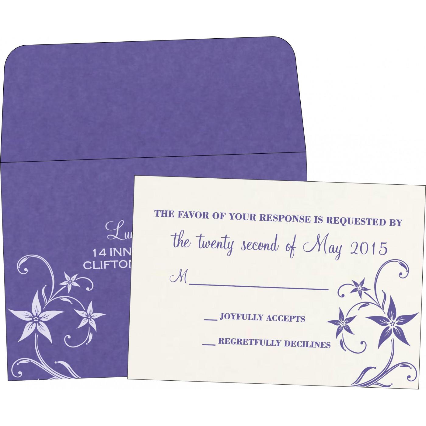 RSVP Cards : RSVP-8225H - 123WeddingCards