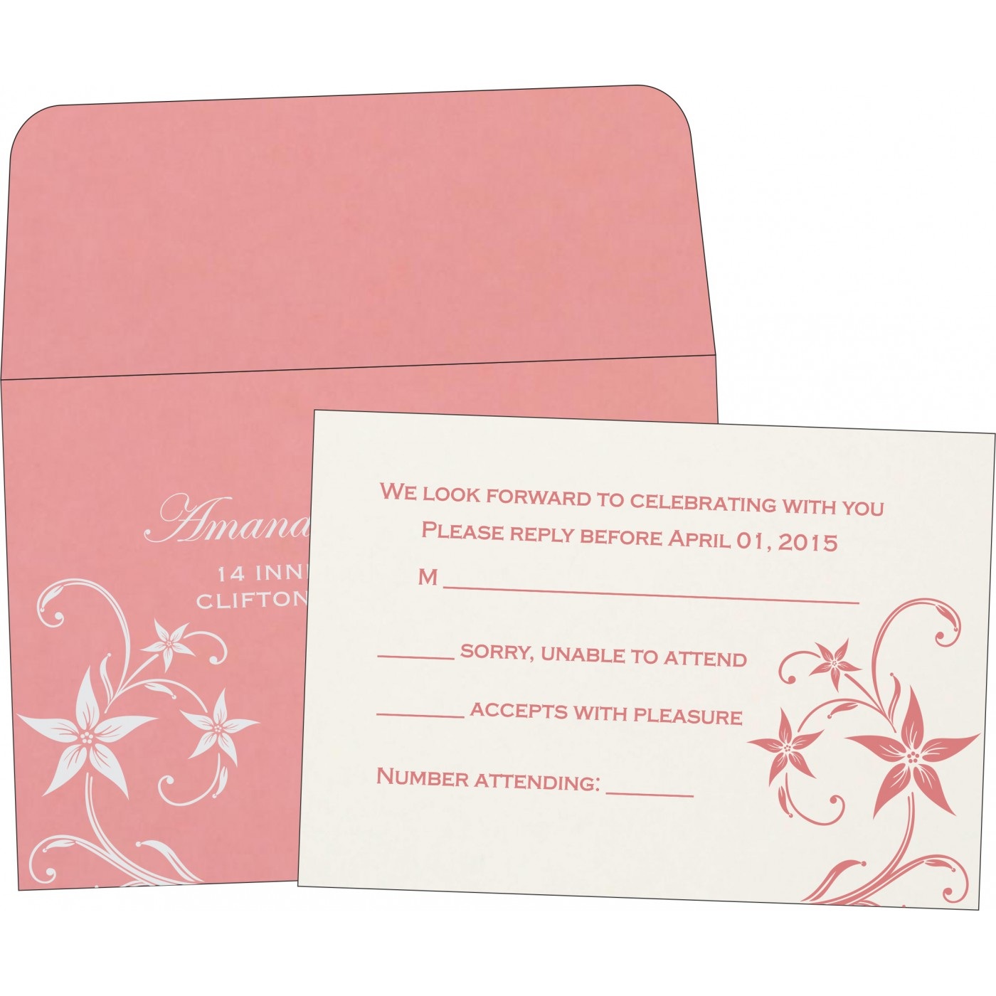 RSVP Cards : RSVP-8225M - 123WeddingCards