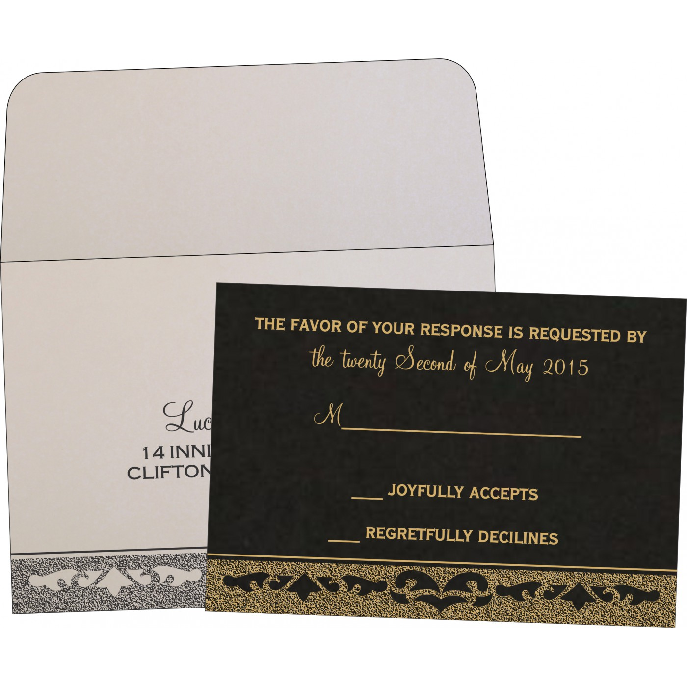 RSVP Cards : RSVP-8227A - 123WeddingCards