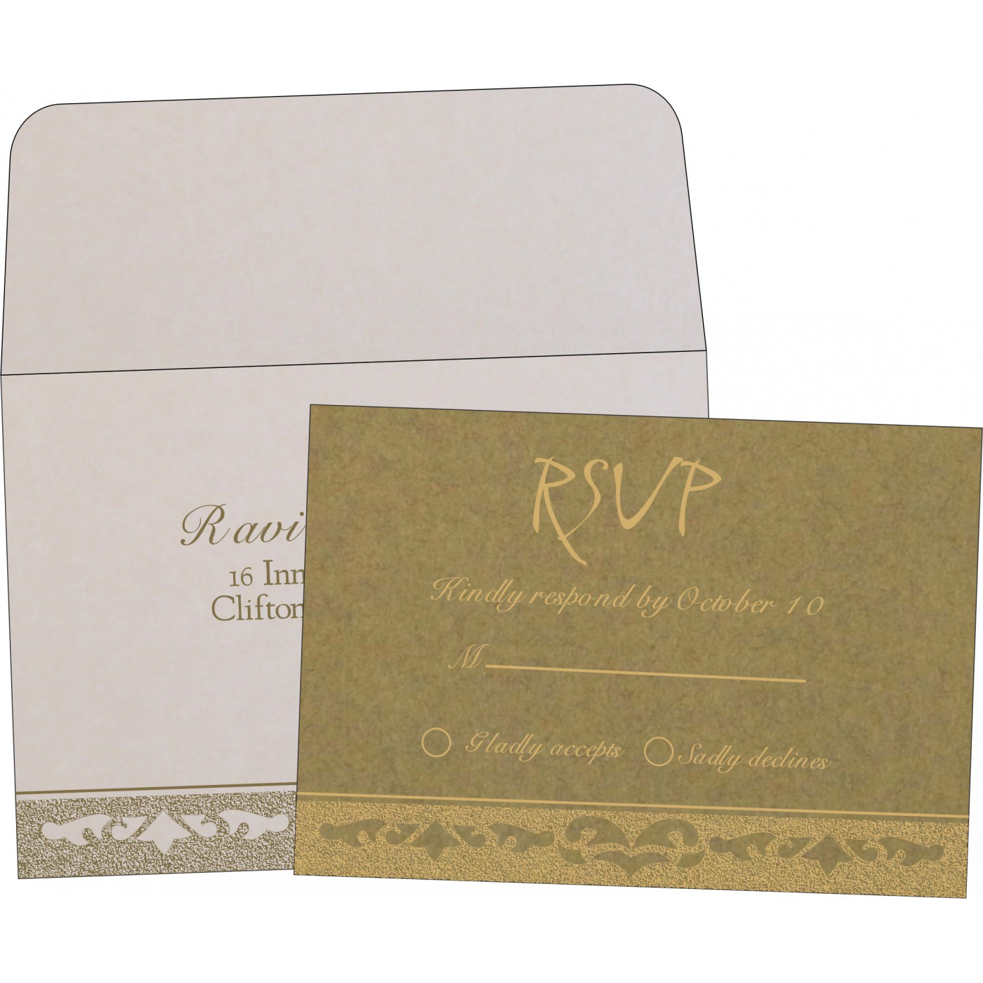 RSVP Cards : RSVP-8227F - 123WeddingCards