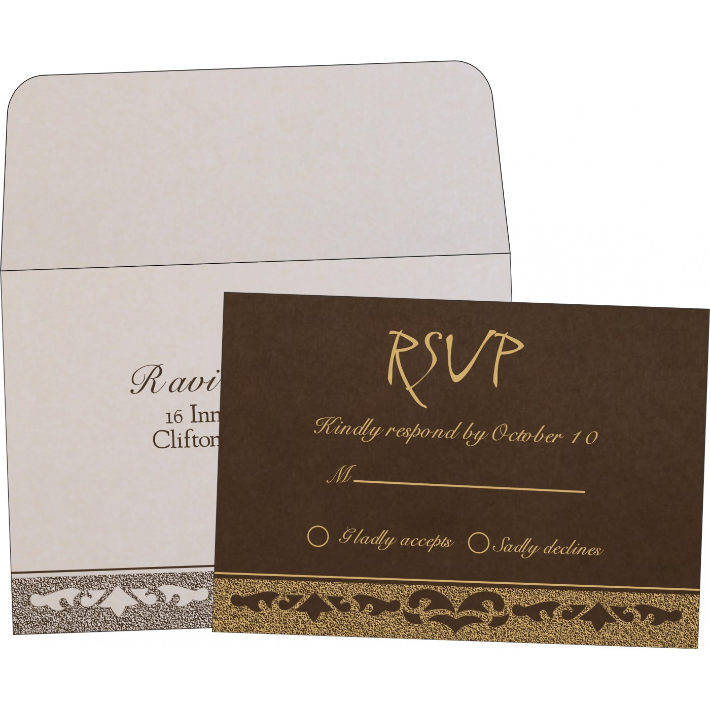 RSVP Cards : RSVP-8227P - 123WeddingCards