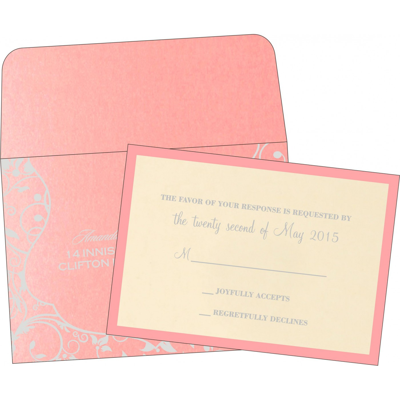 RSVP Cards : RSVP-8229Q - 123WeddingCards