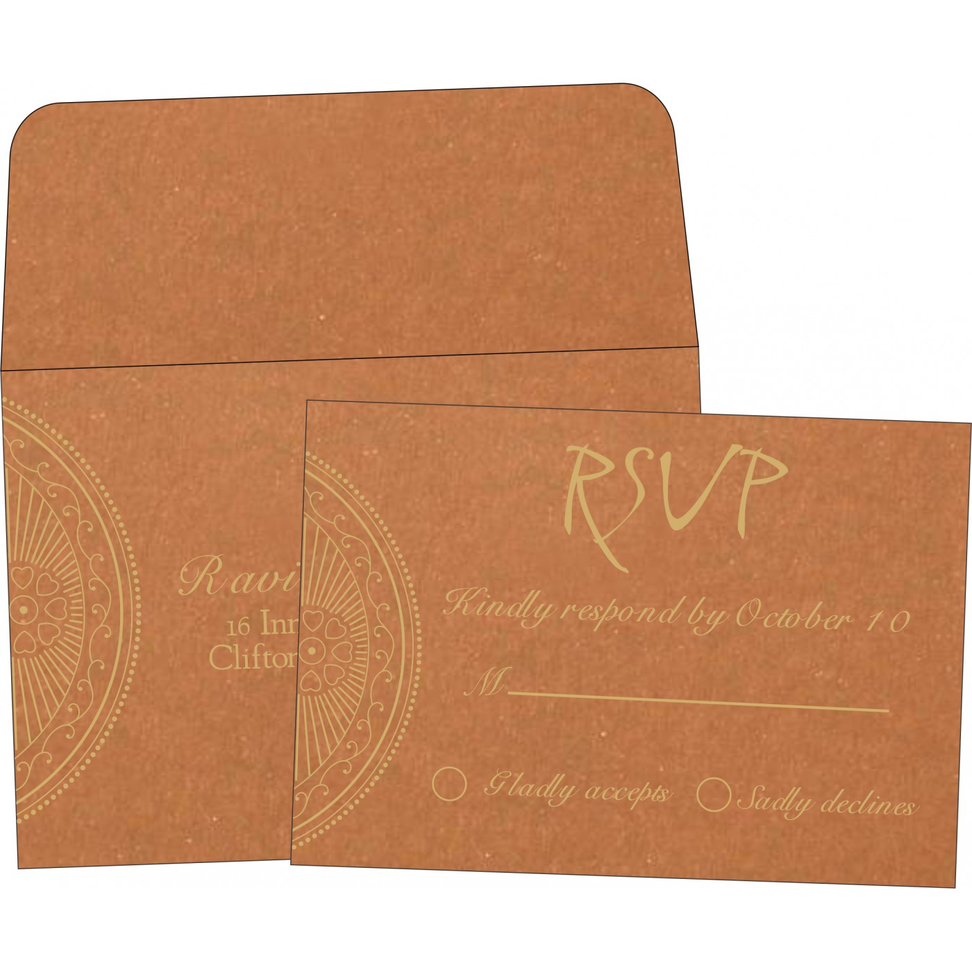 RSVP Cards : RSVP-8230Q - 123WeddingCards