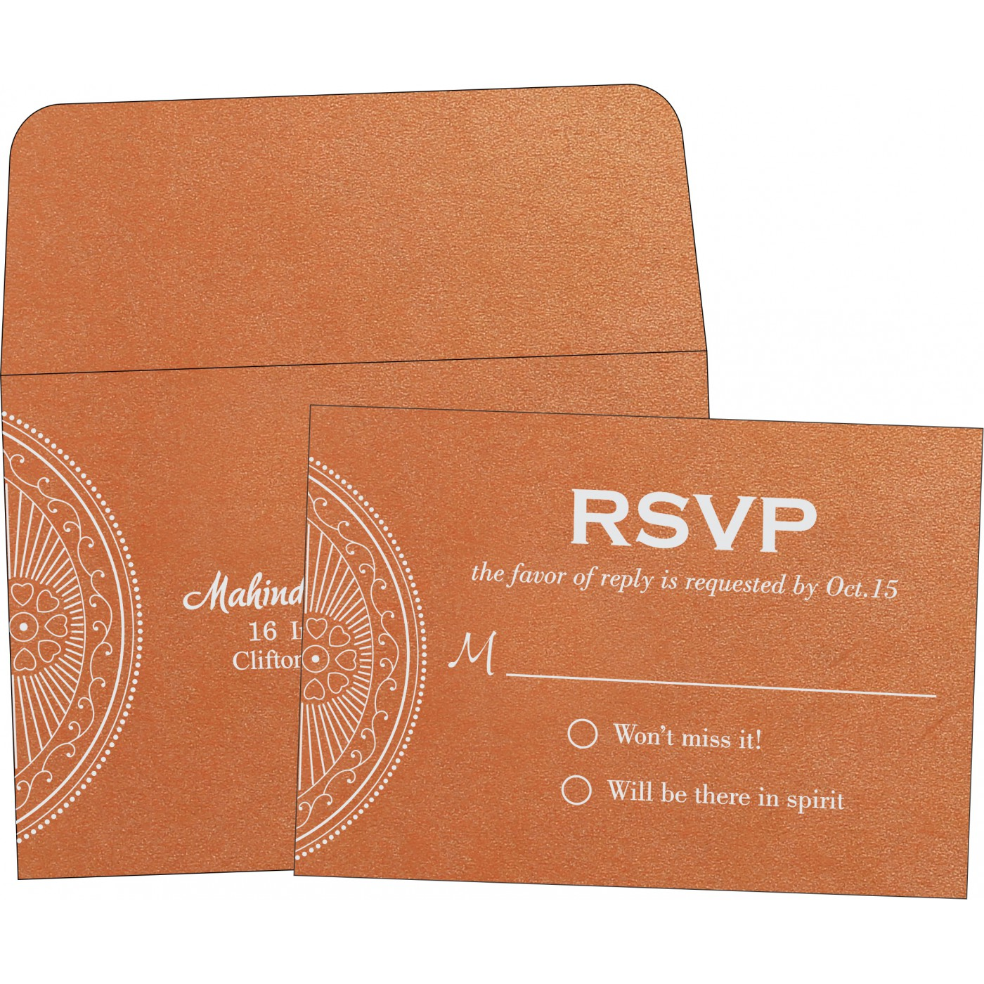 RSVP Cards : RSVP-8230T - 123WeddingCards