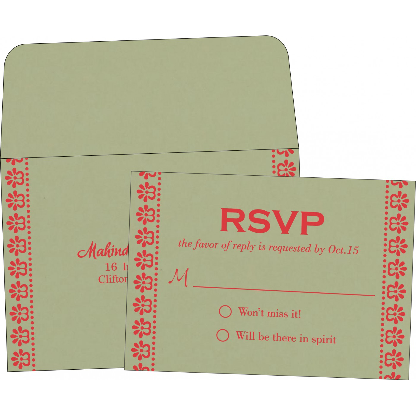 RSVP Cards : RSVP-8231G - 123WeddingCards