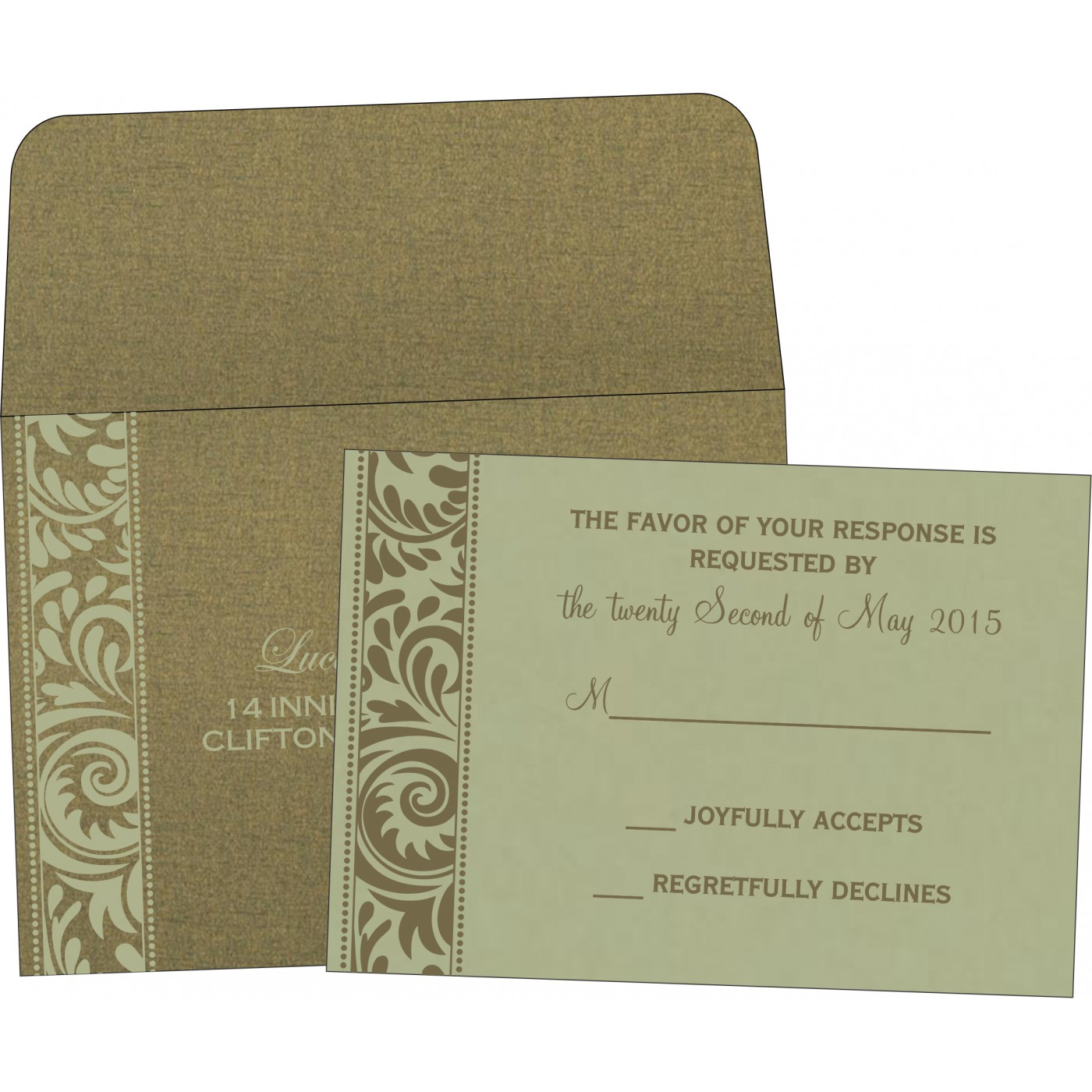 RSVP Cards : RSVP-8235A - 123WeddingCards