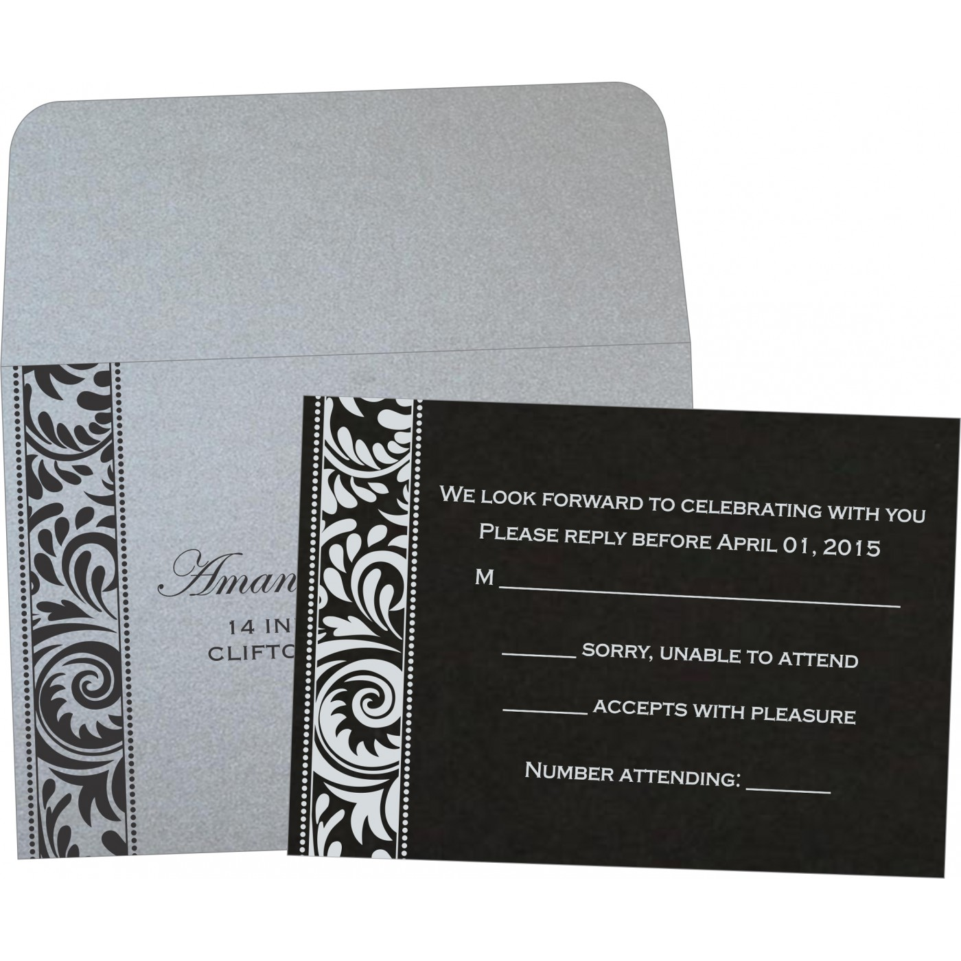 RSVP Cards : RSVP-8235B - 123WeddingCards