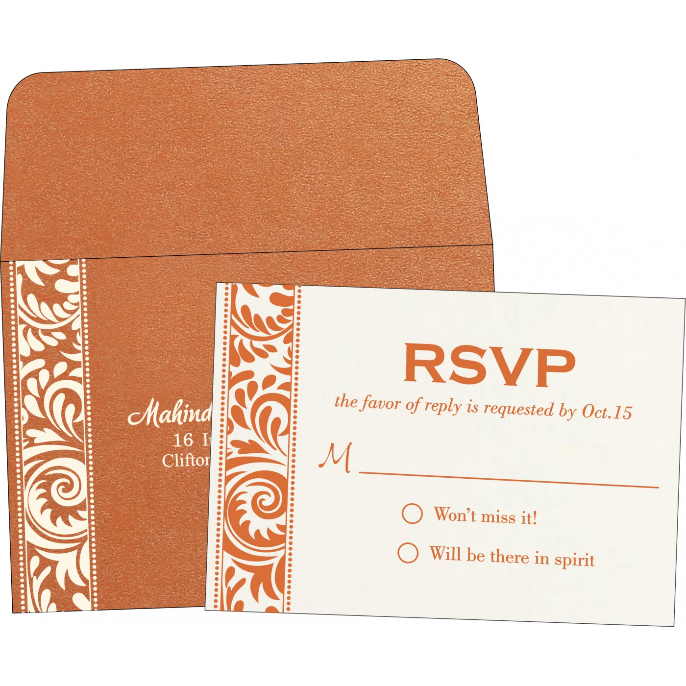 RSVP Cards : RSVP-8235G - 123WeddingCards