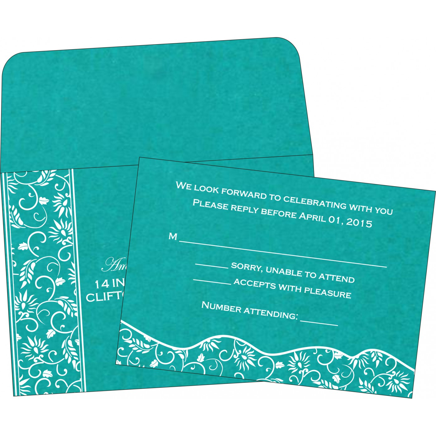 RSVP Cards : RSVP-8236J - 123WeddingCards