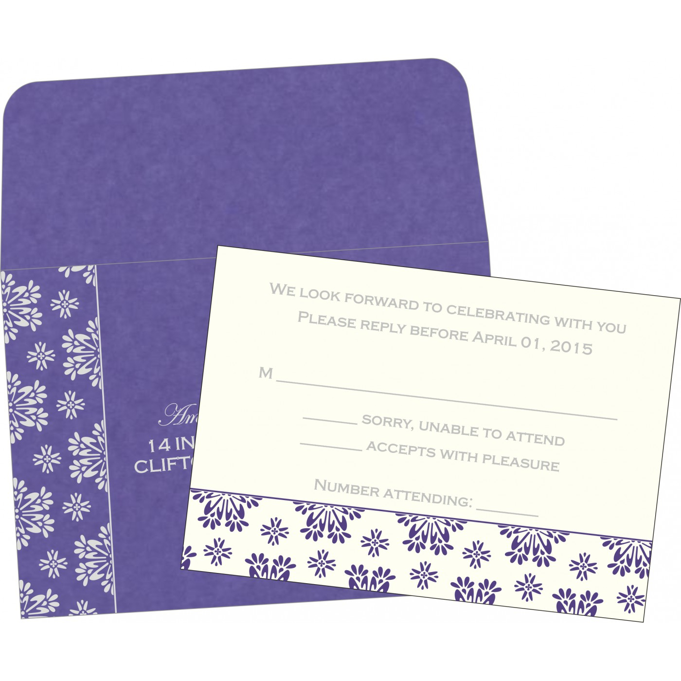 RSVP Cards : RSVP-8237A - 123WeddingCards