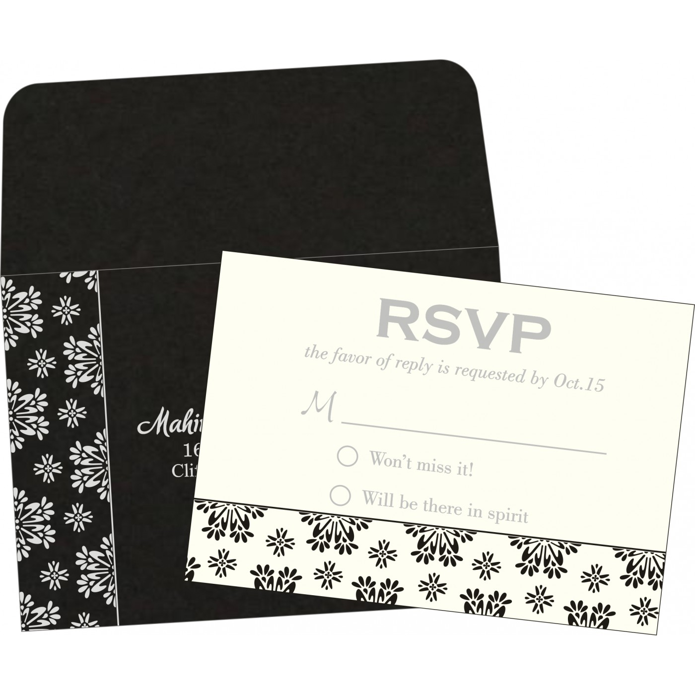 RSVP Cards : RSVP-8237H - 123WeddingCards