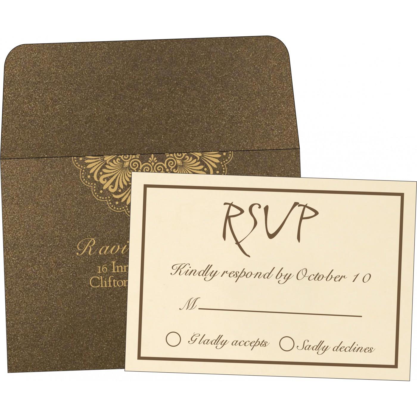 RSVP Cards : RSVP-8238G - 123WeddingCards