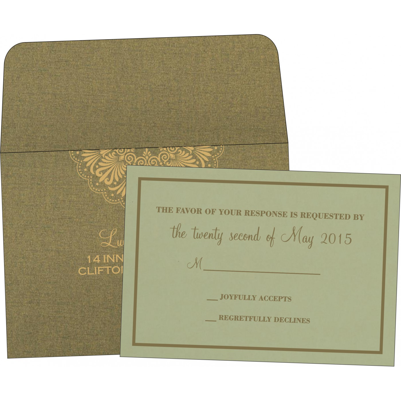 RSVP Cards : RSVP-8238K - 123WeddingCards