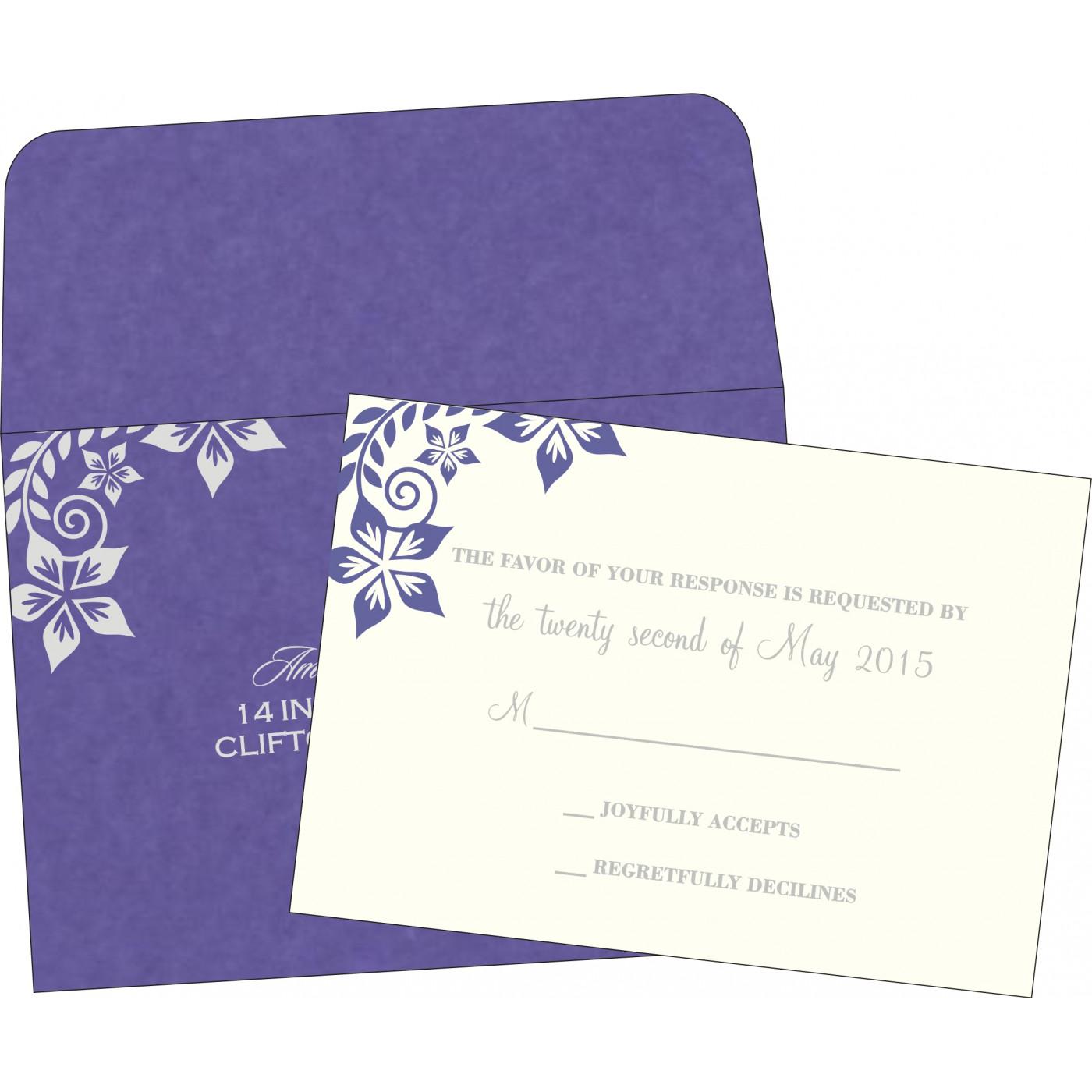 RSVP Cards : RSVP-8240B - 123WeddingCards