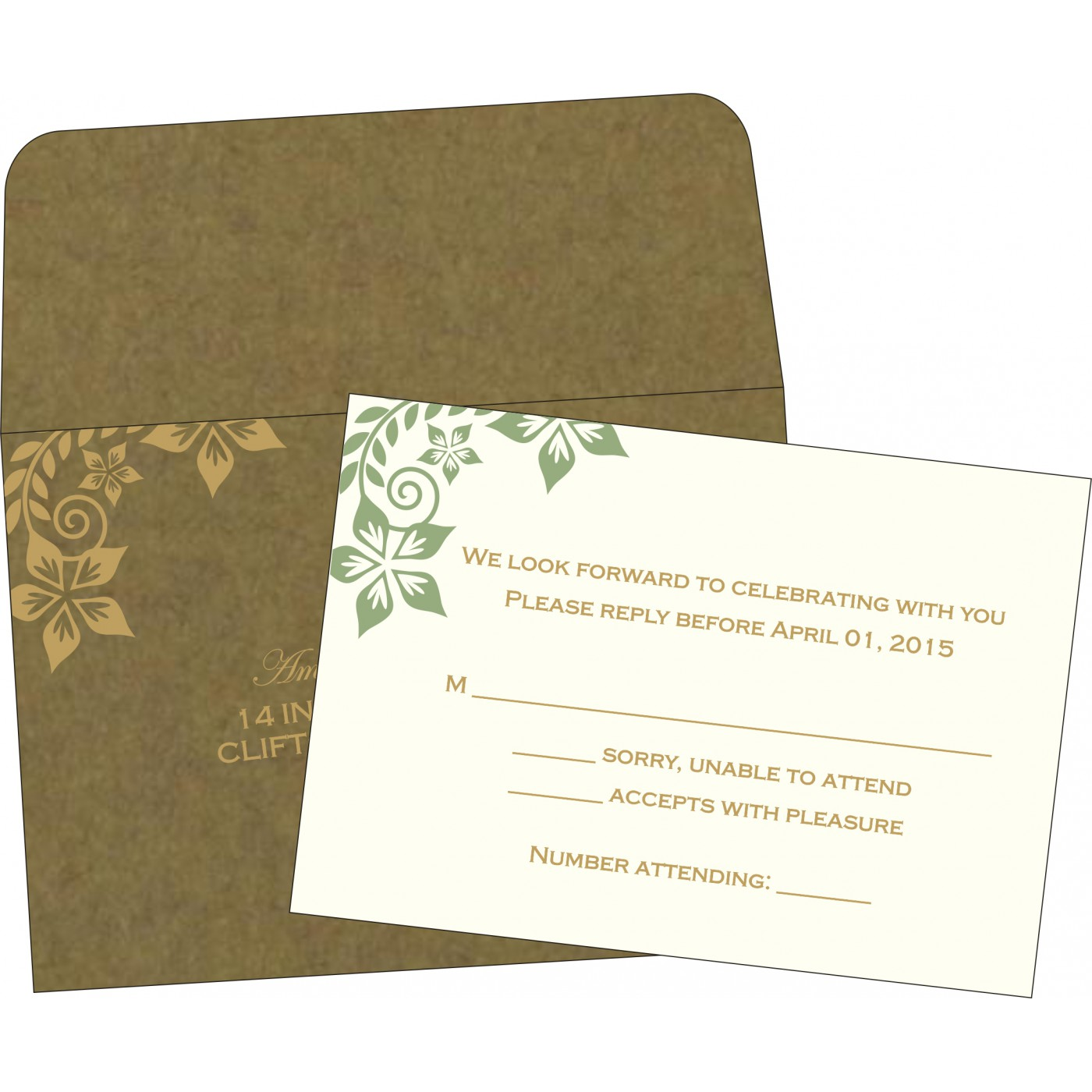 RSVP Cards : RSVP-8240F - 123WeddingCards