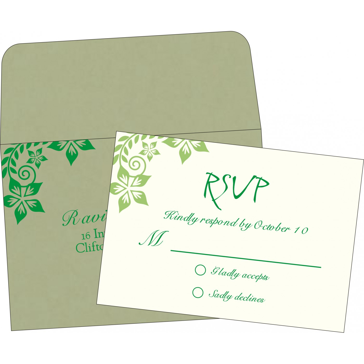 RSVP Cards : RSVP-8240I - 123WeddingCards