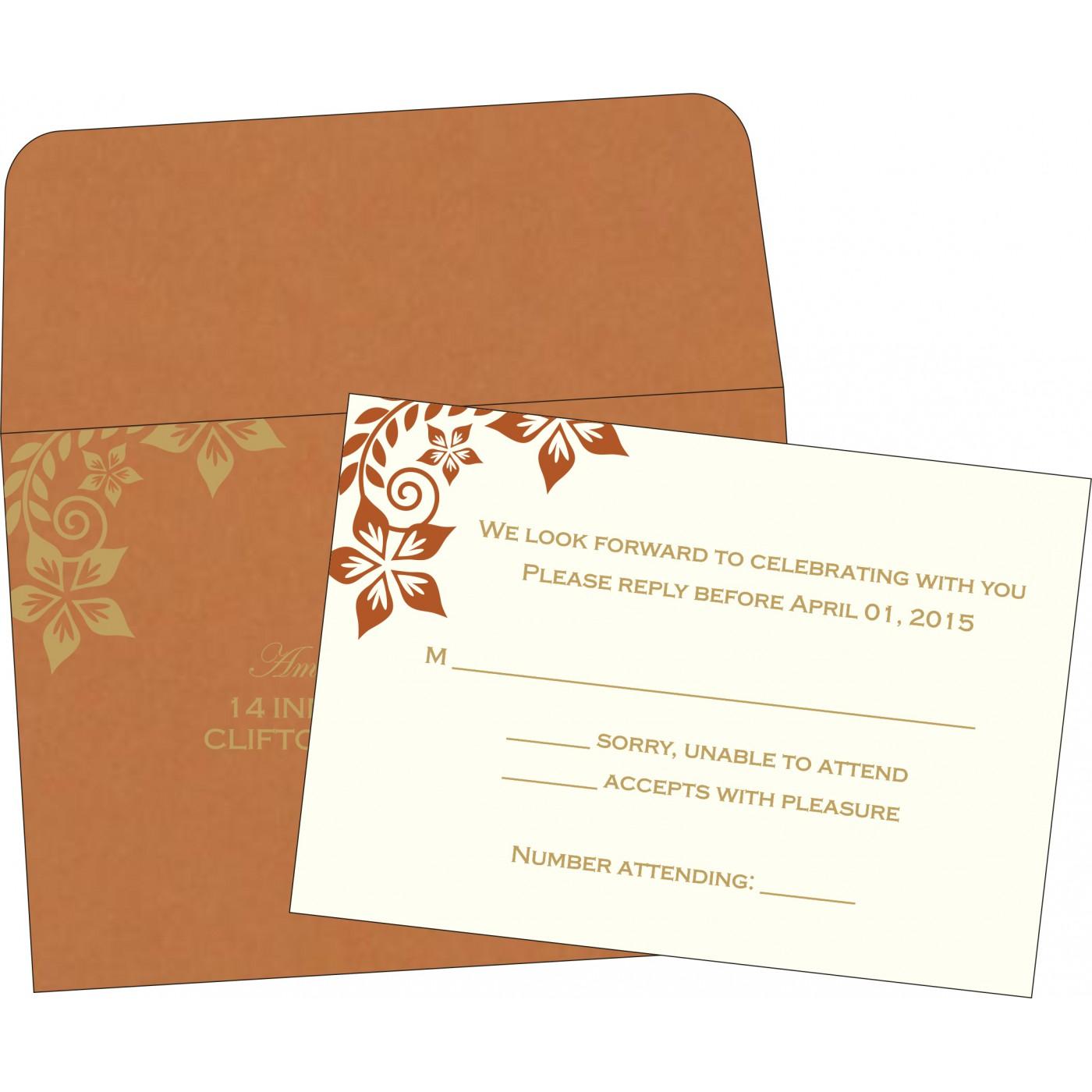 RSVP Cards : RSVP-8240L - 123WeddingCards