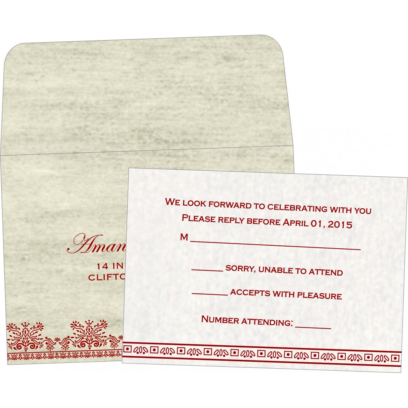RSVP Cards : RSVP-8241B - 123WeddingCards