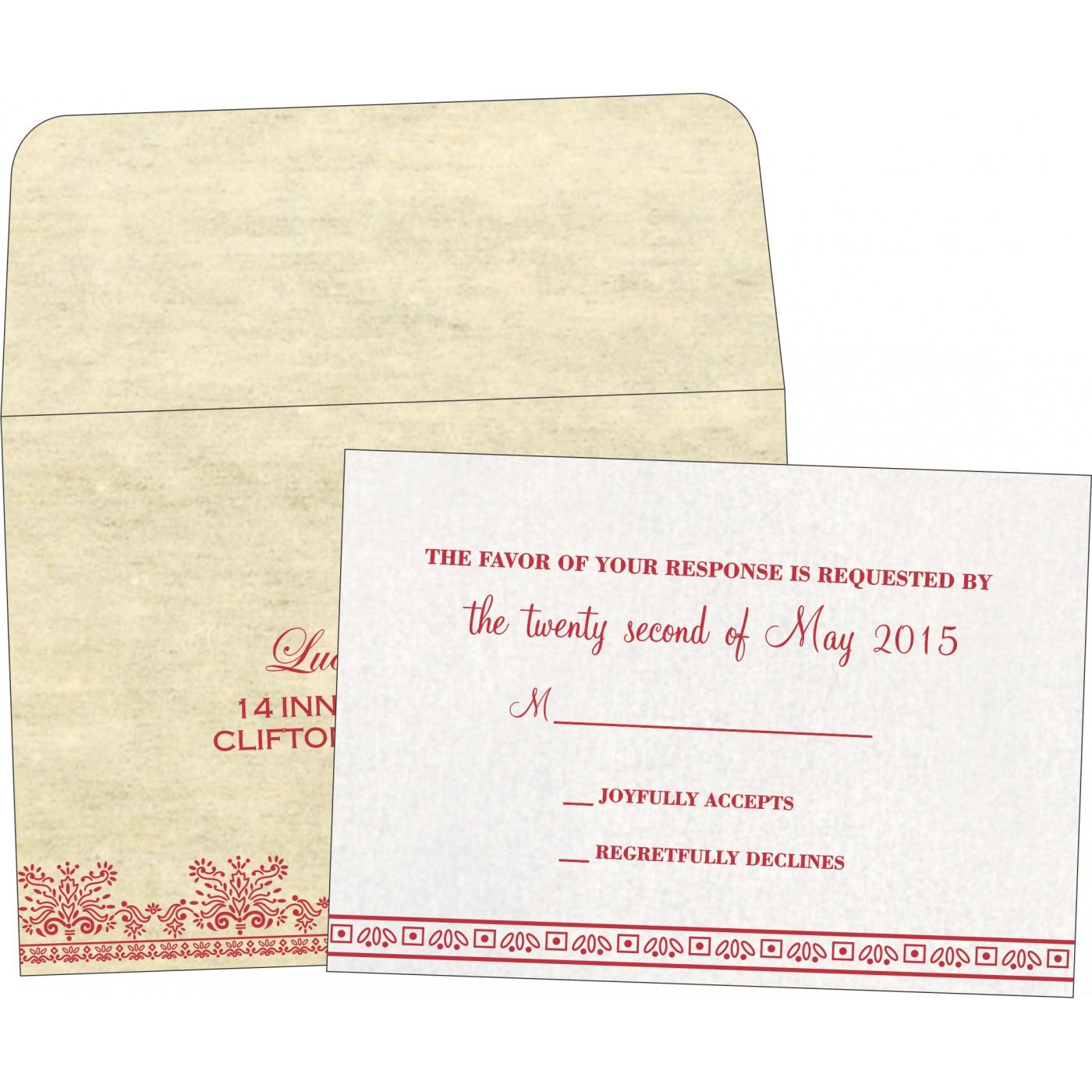 RSVP Cards : RSVP-8241F - 123WeddingCards