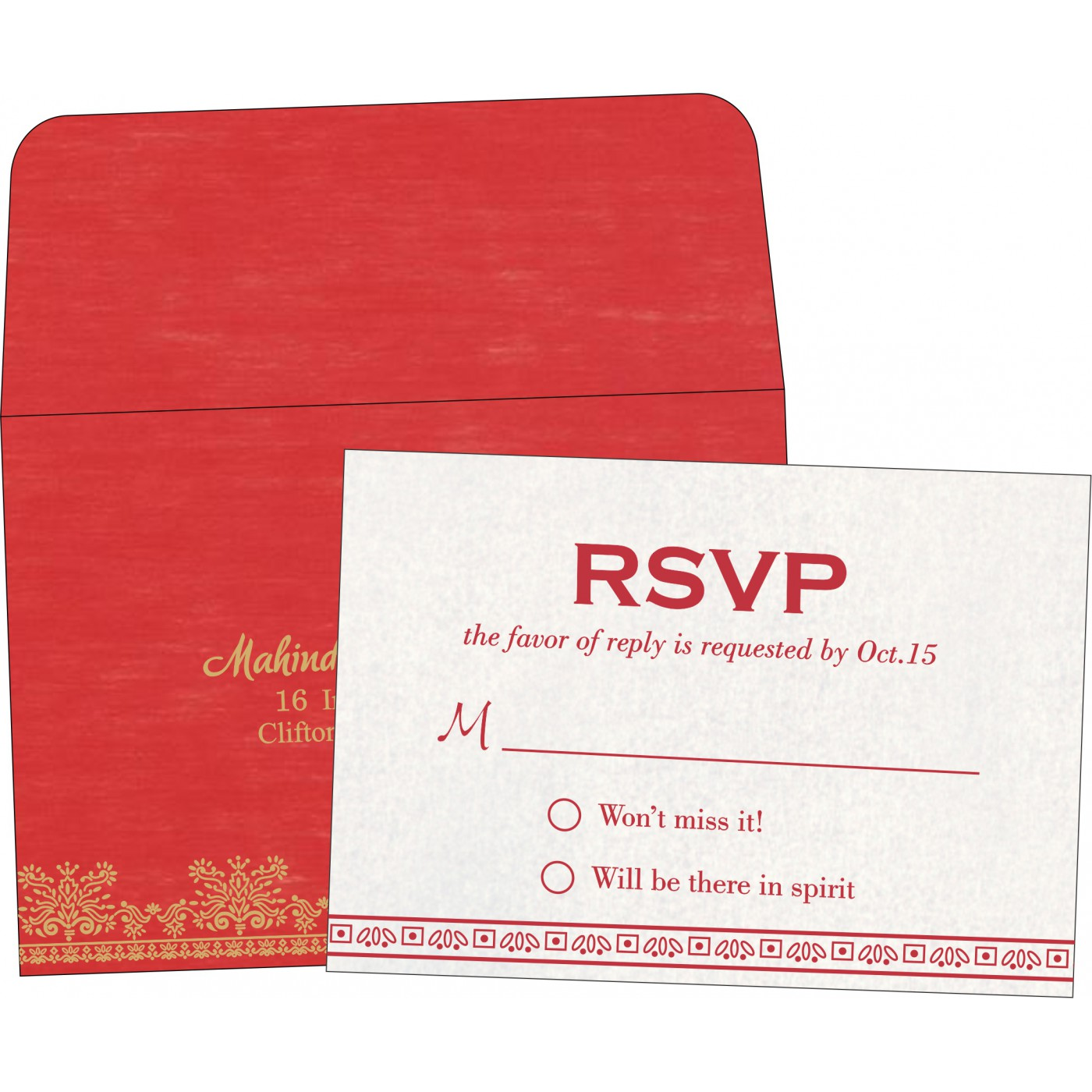 RSVP Cards : RSVP-8241Q - 123WeddingCards