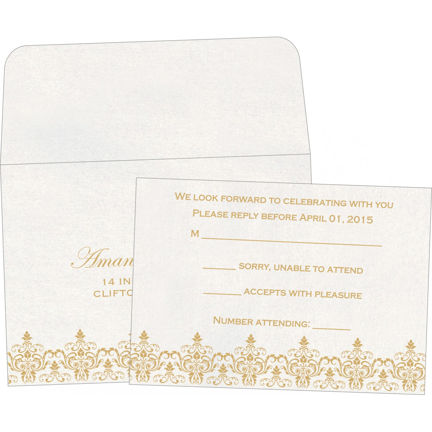 RSVP Cards : RSVP-8244B - 123WeddingCards
