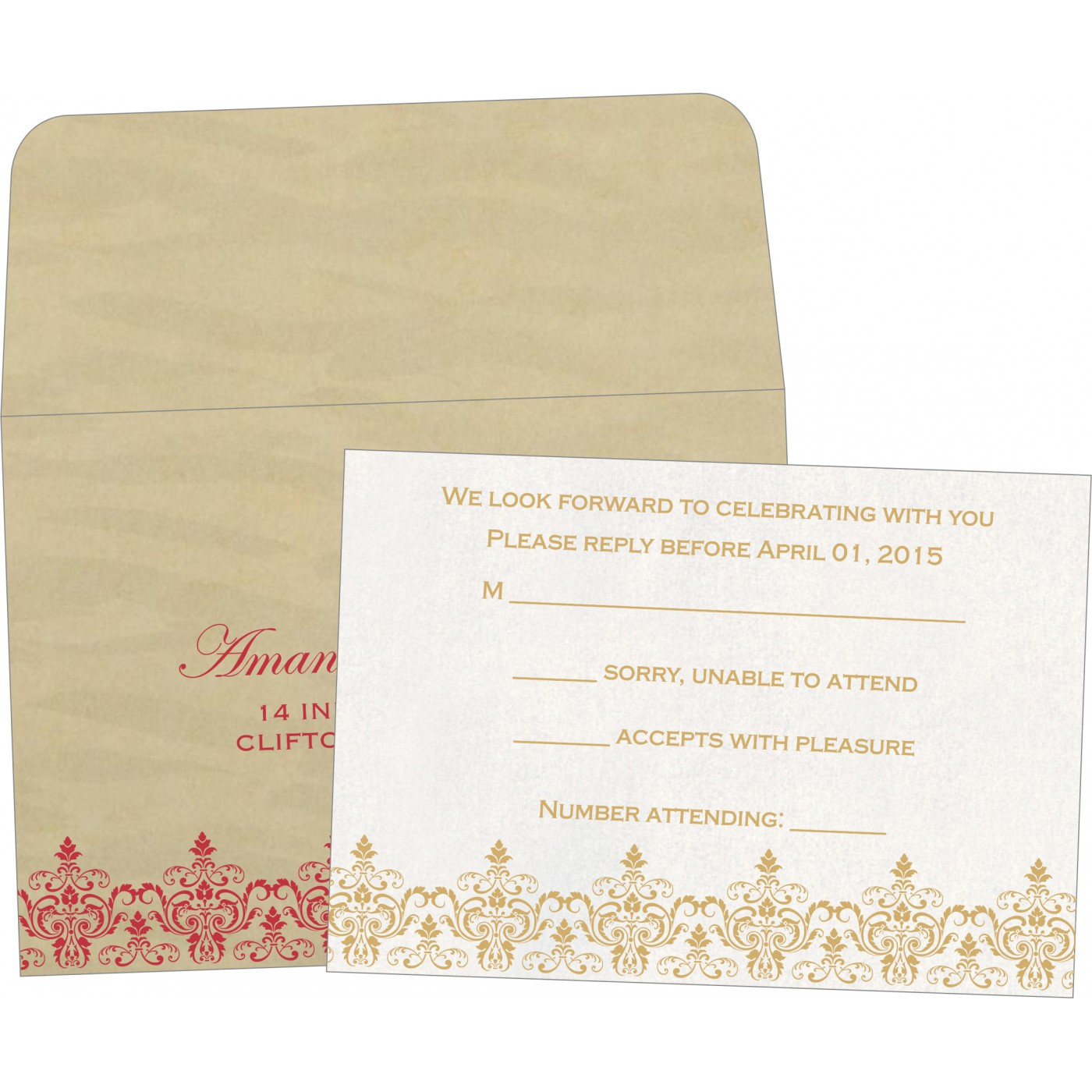 RSVP Cards : RSVP-8244J - 123WeddingCards