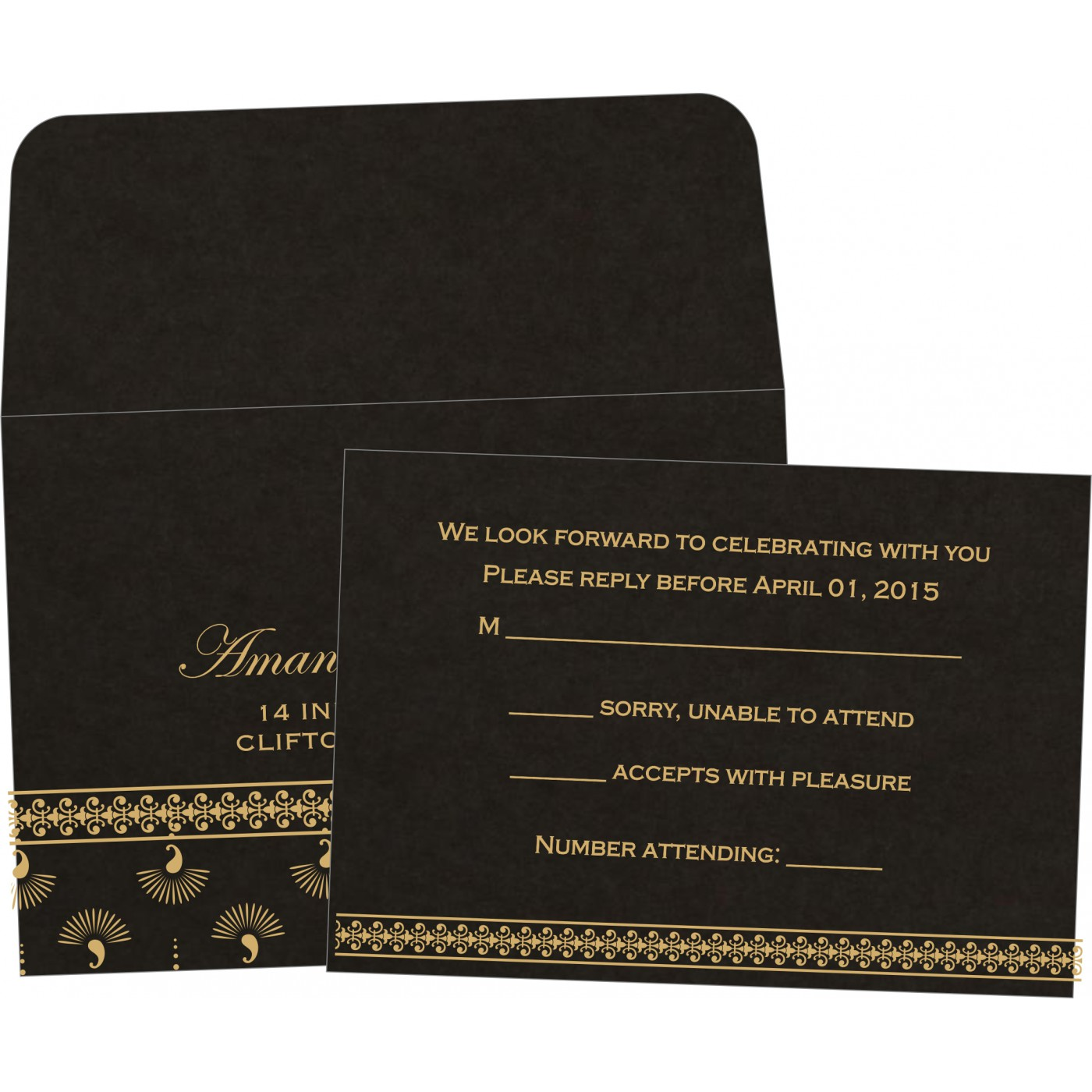 RSVP Cards : RSVP-8247B - 123WeddingCards