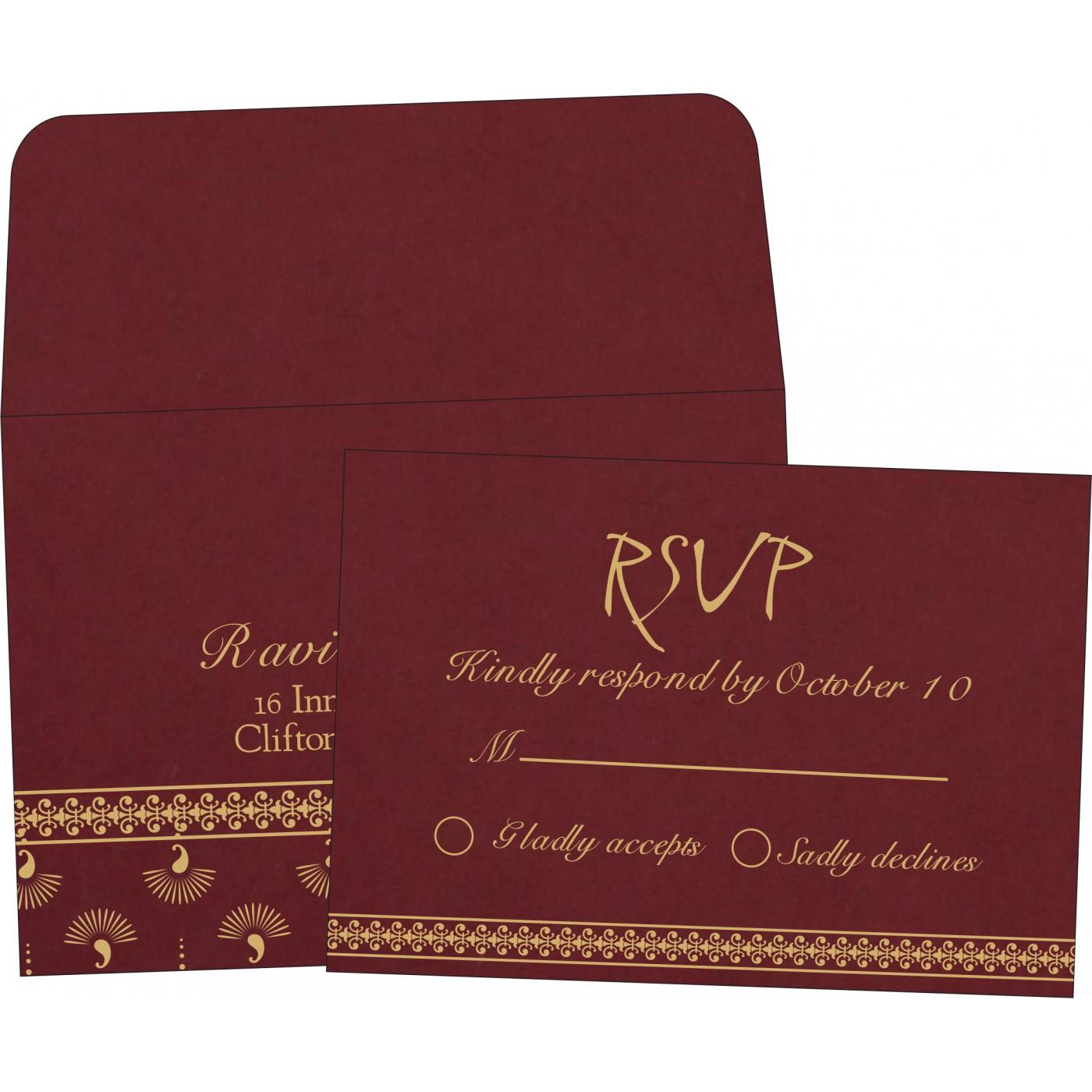 RSVP Cards : RSVP-8247D - 123WeddingCards