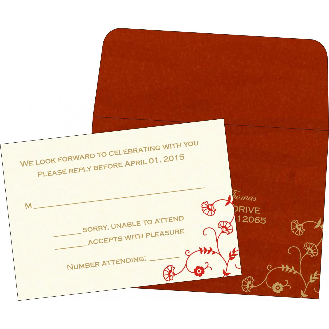 RSVP Cards : RSVP-8248A - 123WeddingCards