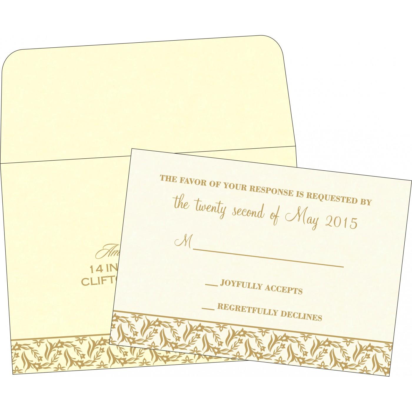 RSVP Cards : RSVP-8249B - 123WeddingCards