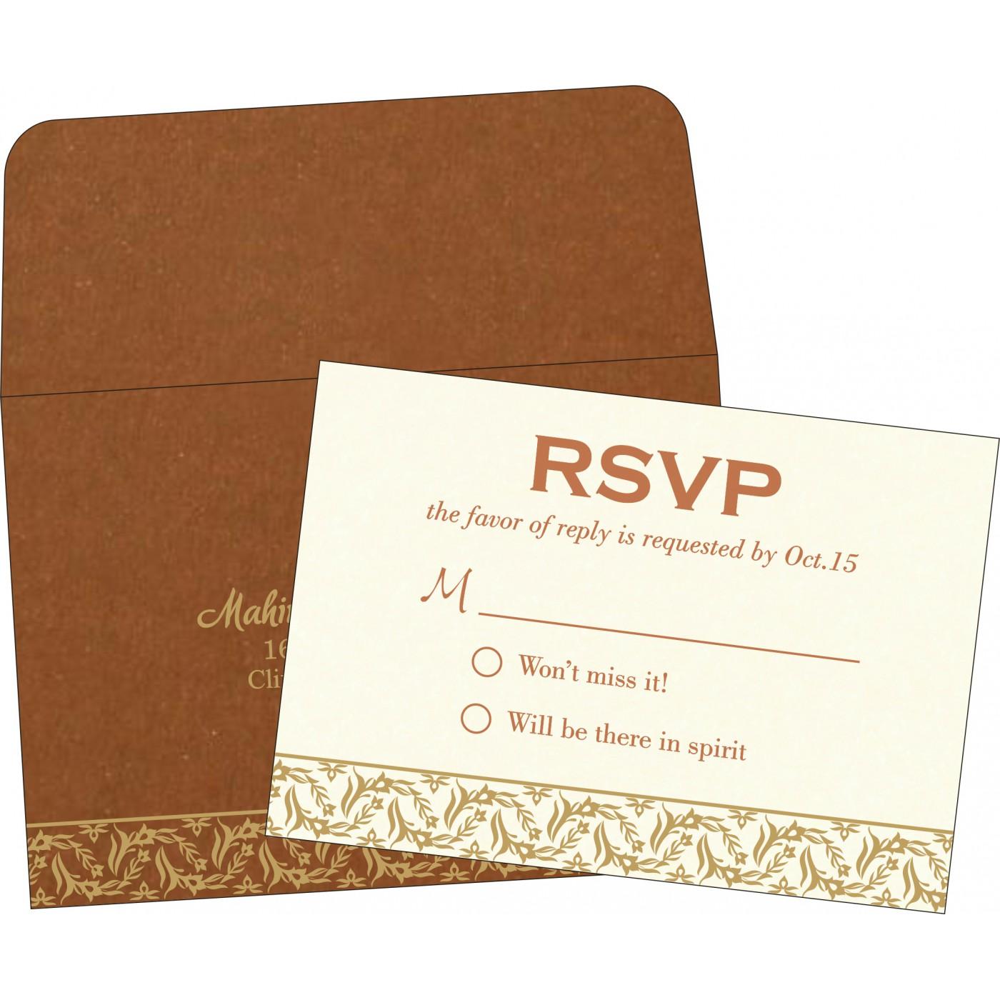 RSVP Cards : RSVP-8249F - 123WeddingCards