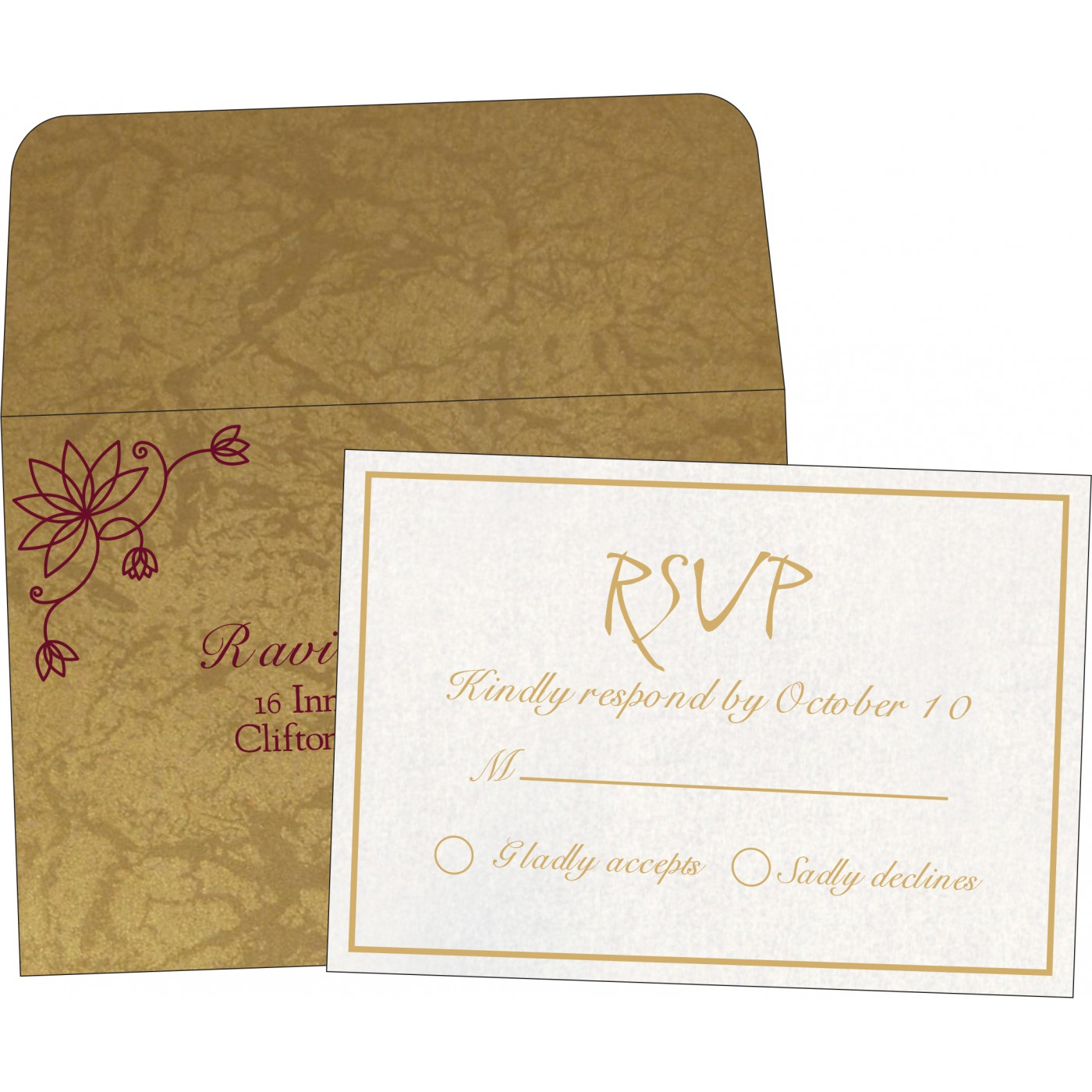 RSVP Cards : RSVP-8251E - 123WeddingCards