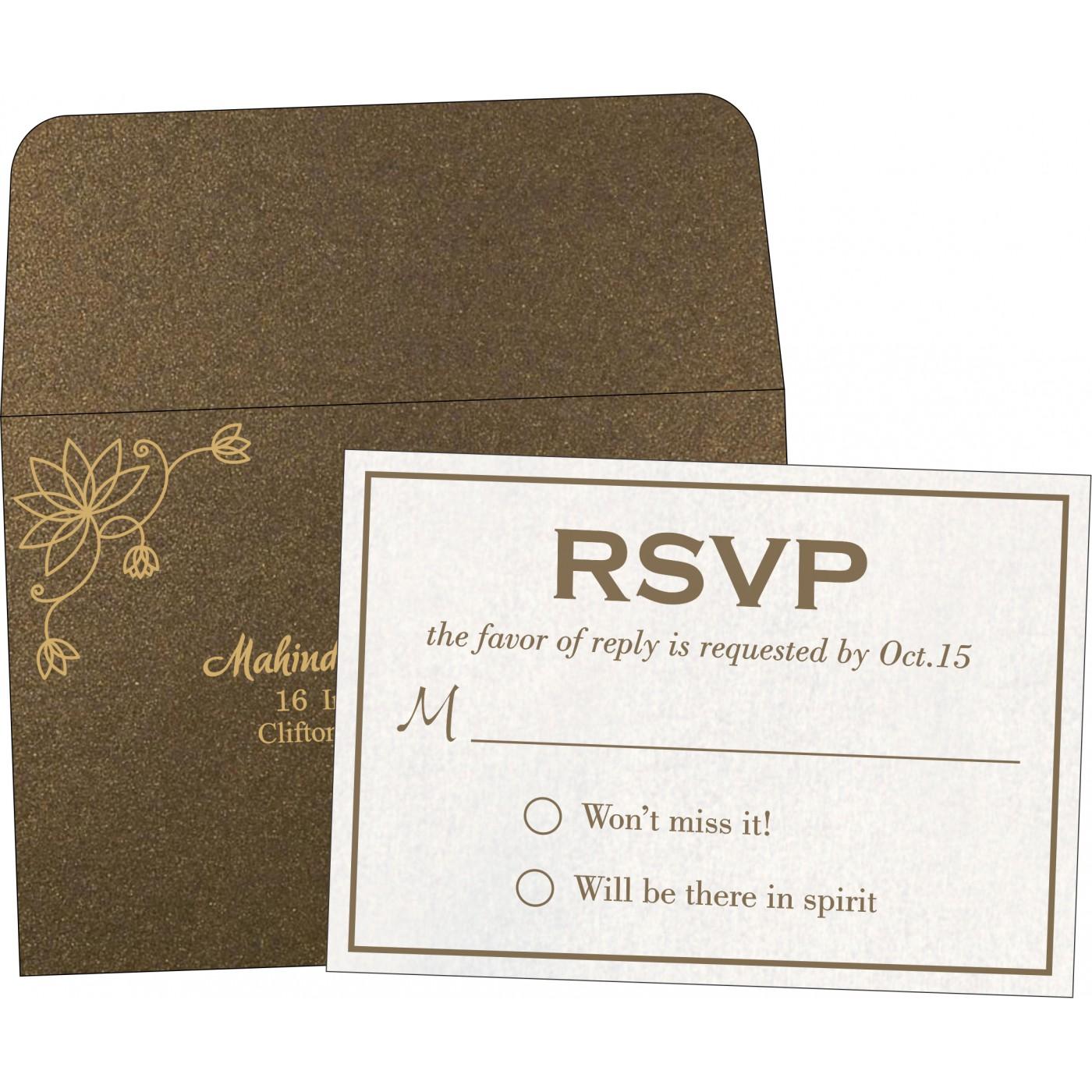RSVP Cards : RSVP-8251F - 123WeddingCards
