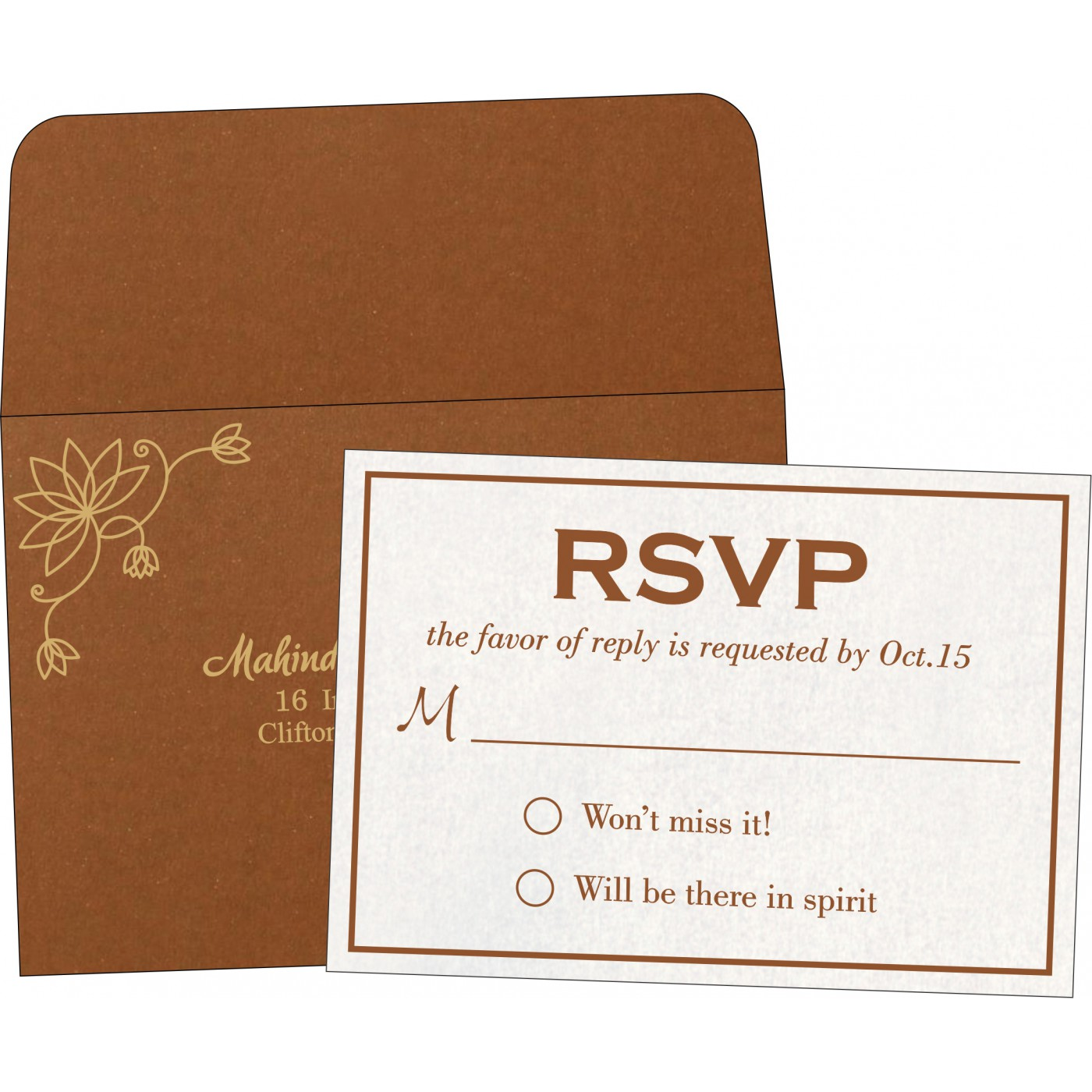 RSVP Cards : RSVP-8251M - 123WeddingCards