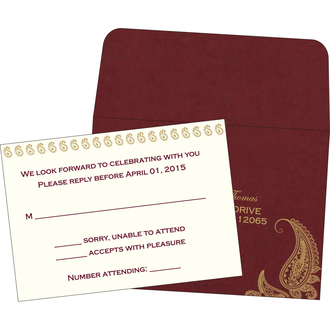 RSVP Cards : RSVP-8252A - 123WeddingCards