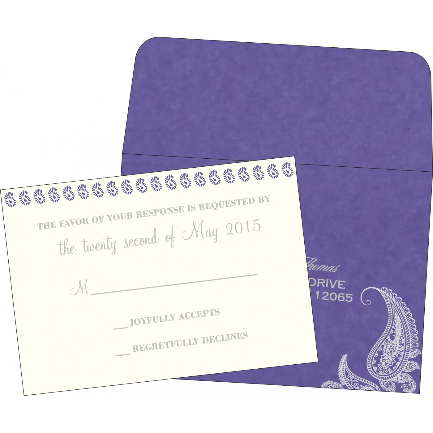 RSVP Cards : RSVP-8252B - 123WeddingCards