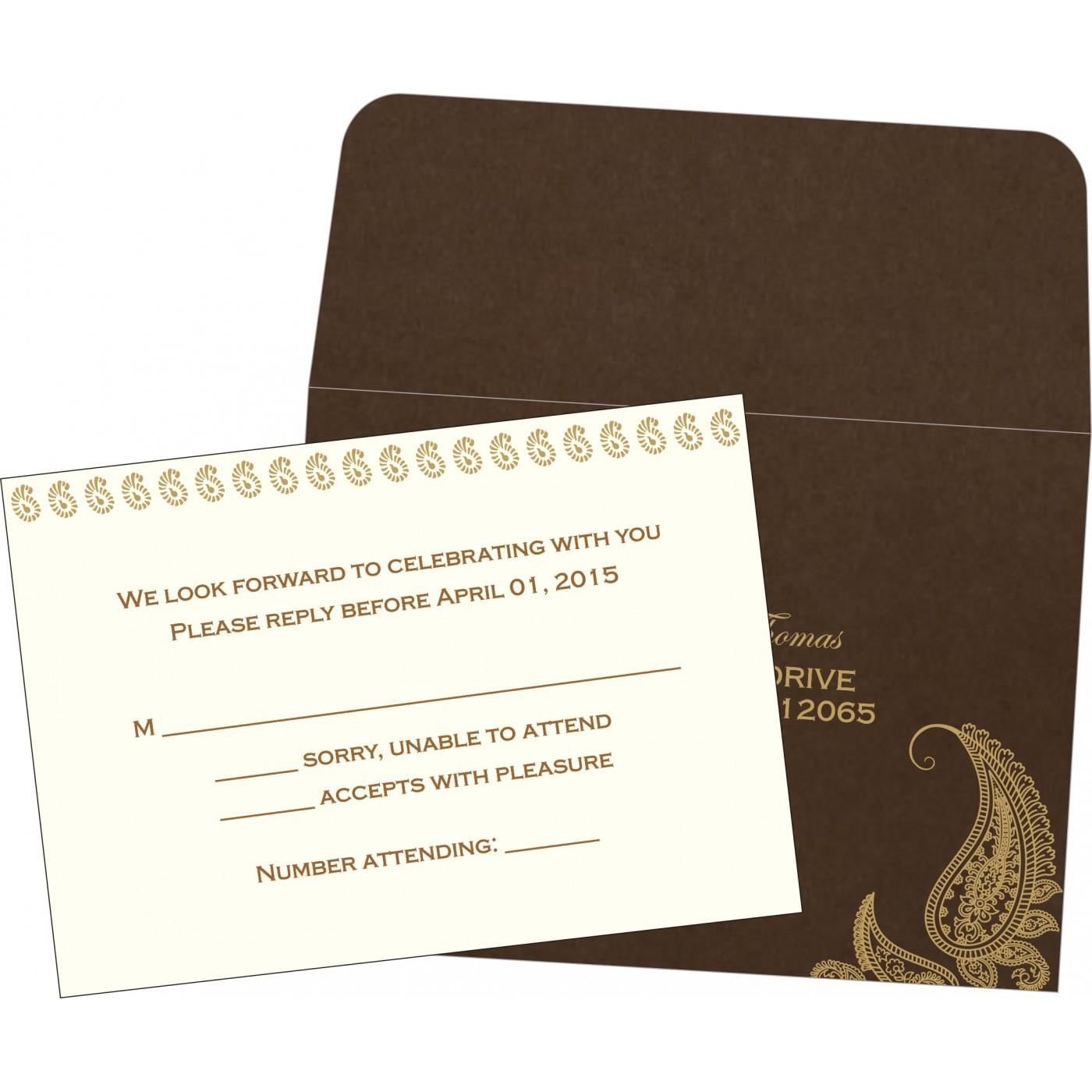 RSVP Cards : RSVP-8252F - 123WeddingCards