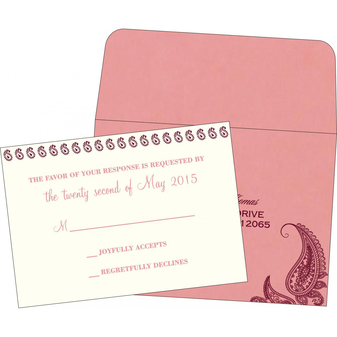 RSVP Cards : RSVP-8252G - 123WeddingCards