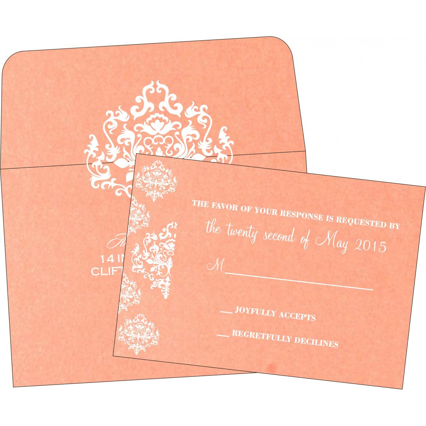 RSVP Cards : RSVP-8254G - 123WeddingCards